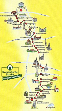 Romantische Strasse in Duitsland