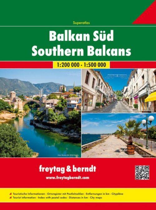 FB Zuid-Balkan • Servië, Montenegro, Kosovo, Macedonië, Albanië Wegenatlas